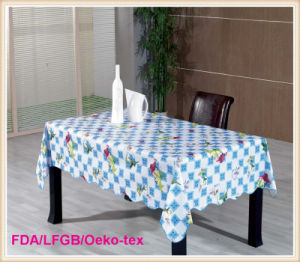 PVC Tablecloth with Nonwoven Backing (TJ0147B) pictures & photos