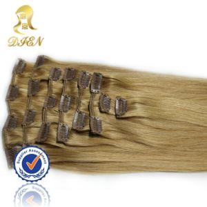 100% Wholesale Malaysian Remy Hair Clip in Hair Extensions