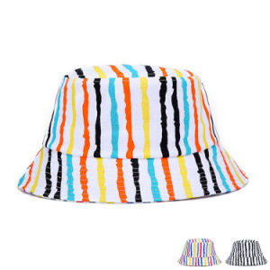 Fashion Colorful Striped Printed Cotton Twill Bucket Hat (YKY3210) pictures & photos