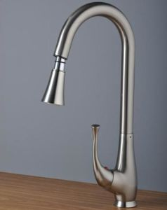 Beelee Pull out Brass Brushed Nickel Kitchen Water Tap