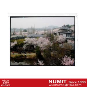 "100/"" 4:3 HD Electric Projector Screen Matte Remote Control Home Theater Screen"