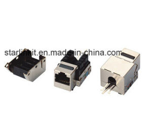 Cat5e Shielded Metal Punch Down Keystone for Cat5e STP Cables pictures & photos