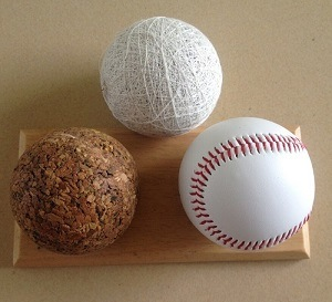 "9"" Cork+Rubber Center PVC Leather Baseball"