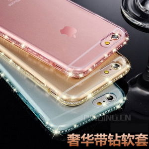 Mobile Phone Diamond Soft TPU Case for iPhone 6s