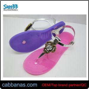 7ec690059aa7 Sweet Outdoor Beach Strap Flat Jelly Thong Flip Flops Slippers for Children  Kids Girls