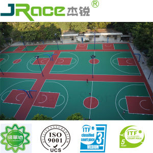 Silicon PU Buffer Coat Basketball Court (JRace) pictures & photos