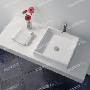 Modern Design Solid Surface Above Counter Bathroom Wash Basin/Sink (JZ1001)