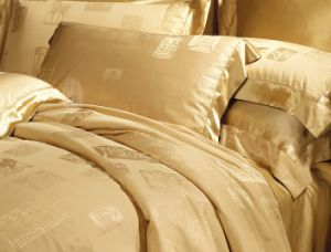 Taihu Snow Silk Luxury Chinese Tradictional Culture Jacquard Silk Bedding Set pictures & photos