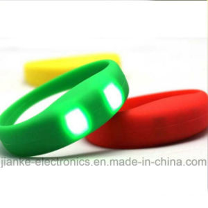 LED Silicone Sound Activated Flashing Bracelet (4010)