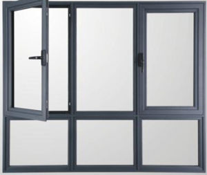 Double Panel Casement Window Aluminum Window