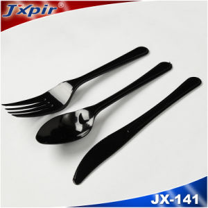 Jx141 Disposable Black Plastic Cutlery Packs pictures & photos