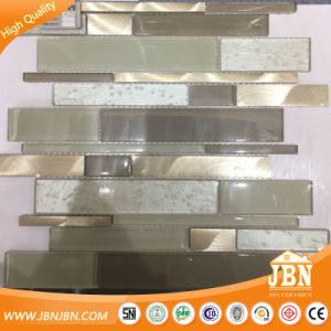 Random Size Strip Golden Select Glass and Aluminum Mosaic Wall Tiles (M855172) pictures & photos