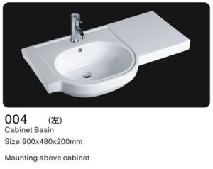 Rectangle Ceramic Cabinet Wash Sinks, Ceramic Wash Basin pictures & photos