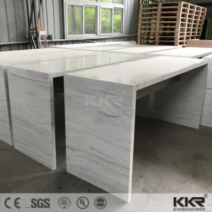 Artificial Marble Custom Made Long Narrow Marble Bar Table pictures & photos
