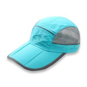 357dc877bf494 Quick Dry Sun Outdoor Hat Folding Portable Unisex UV SPF 50+ Baseball Cap