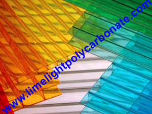 China Colored Polycarbonate Sheet, Twinwall Poycarbonate, Cellular ...