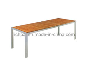 Outdoor Stainless Steel and Teak Table (RTT002)