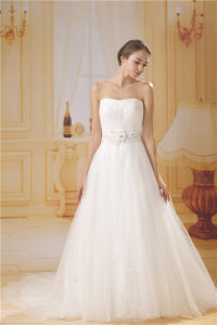 Atractive A-Line Chiffon Wedding Dress of Belt