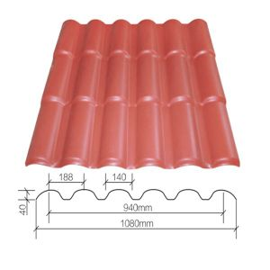 Plastic Roof Tile Terracotta Roman Tile Roof pictures & photos