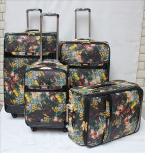 PU Material Trolley Case Set of 4 Ad09# pictures & photos
