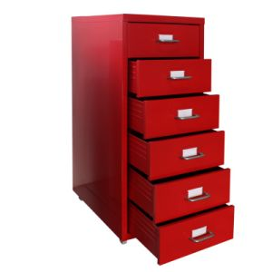 Multi-Drawer Cabinet-Red