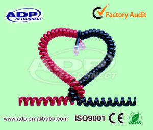 Curly Type Telephone Cord /Jumper Wire Cord Rj11 (4p4c) pictures & photos