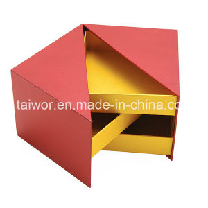 Taiwor Irregular Style Creative Design Red Cardboard Rigid Paper Gift Box
