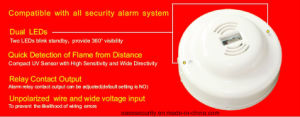 UV Flame Alarm Detector with Relay Output (ES-CF6002) pictures & photos