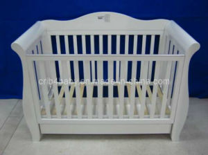 Nz Pine 3 in 1 Sleigh Baby Cot Bed
