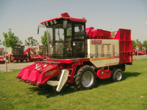 Red Colour Sweet Corn Picking Harvester Machinery