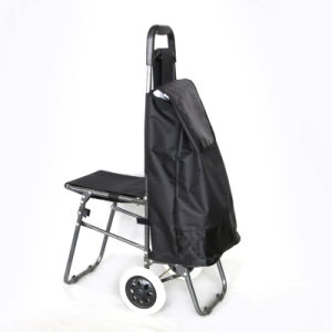 Six Wheels Shopping Trolley Bag with Seat