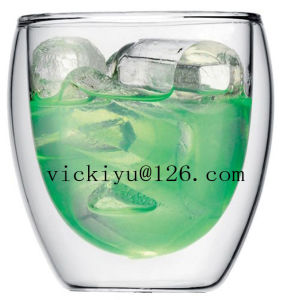 250ml Glass Beer Cup Double Wall Glass Cup
