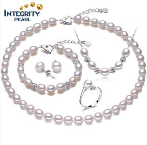 real freshwater sets genuine item earrings necklace bracelet jewelry pearls pearl classic natural
