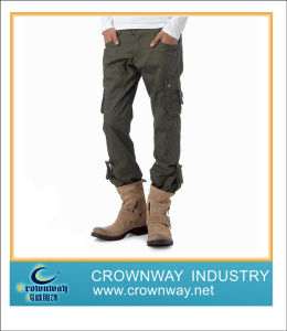Mens Cotton Casual Sport Cargo Pants with High Quality (CW-MCP-1) pictures & photos