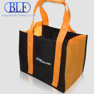 Screen Color Printing Fabric Wine Non Woven Shopping Bags pictures & photos