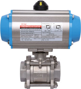 Pneumatic Threaded Ball Valve with Limit Switch pictures & photos