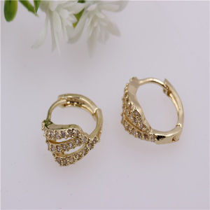 High Quality Zircon Magnetic Brass Earrings Fq-3001
