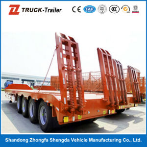 4 Axle Multi Fuctions Low Bed Semi Trailer