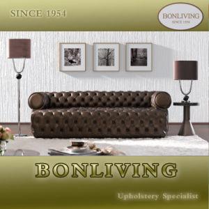 Brown Luxury Top Grain Leather Sofa (B2)