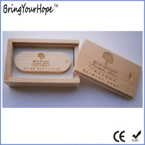 Wooden Box Packaging Custom Logo Wood USB Key (XH-USB-127) pictures & photos