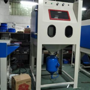 Pressure Sandblasting Cabinet with Dust Collector Free Standing
