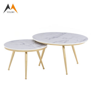 China Low Price Home Furniture Modern Simple Round Marble Coffee Table China Living Room Furniture Coffee Table