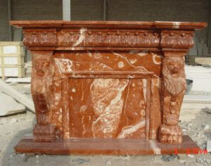 Red Marble Fireplace, Red Stone Fireplace, House Heater, Stone Stoves