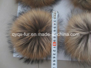 Big Size Natural Color 100% Real Raccoon Fur POM Poms