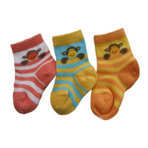 Jacquard Cotton Baby Socks Colored Toe&Heel Bs-52