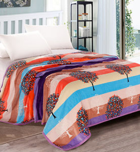 Super Soft Solid/Printed Flannel Blanket Sr-B170219-54 Solid/Printed Coral Fleece Blanket