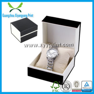 Elegant PU Leather Black Wooden Watch Box Wholesale pictures & photos