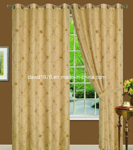Thermal Insulated Embroider Grommet Panel/Curtain (SZSMEE001)