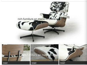 Pony Leather Charles Eames Lounge Chair for Living Room (RF-388) pictures & photos