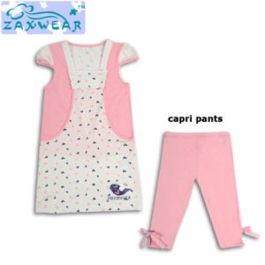 Zaxwear High Quality Bamboo Cotton Baby Girl Dress Set for Wholesale pictures & photos